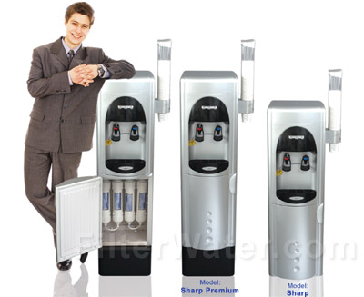 Crystal Quest Sharp Premium and Regular Bottleless Water Coolers