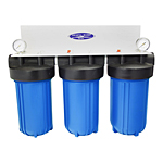 Whole House Filter Triple 10''x5'' For High-Flow Water Filtration