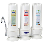 Countertop Fluoride Water Filter Three cartridges