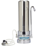 Mega Countertop Water Filter Stainless Steel
