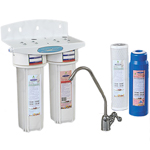Undersink Water Filter With Fluoride Double Cartridge