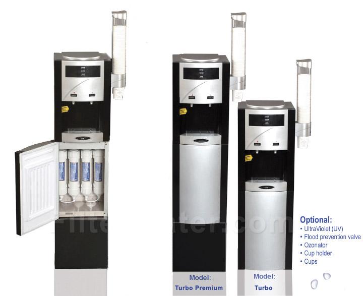 turbo floor reverse osmosis bottleless water cooler crystal quest