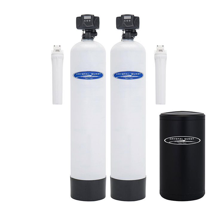 Dual Tank Water Softener And Whole House Filter System