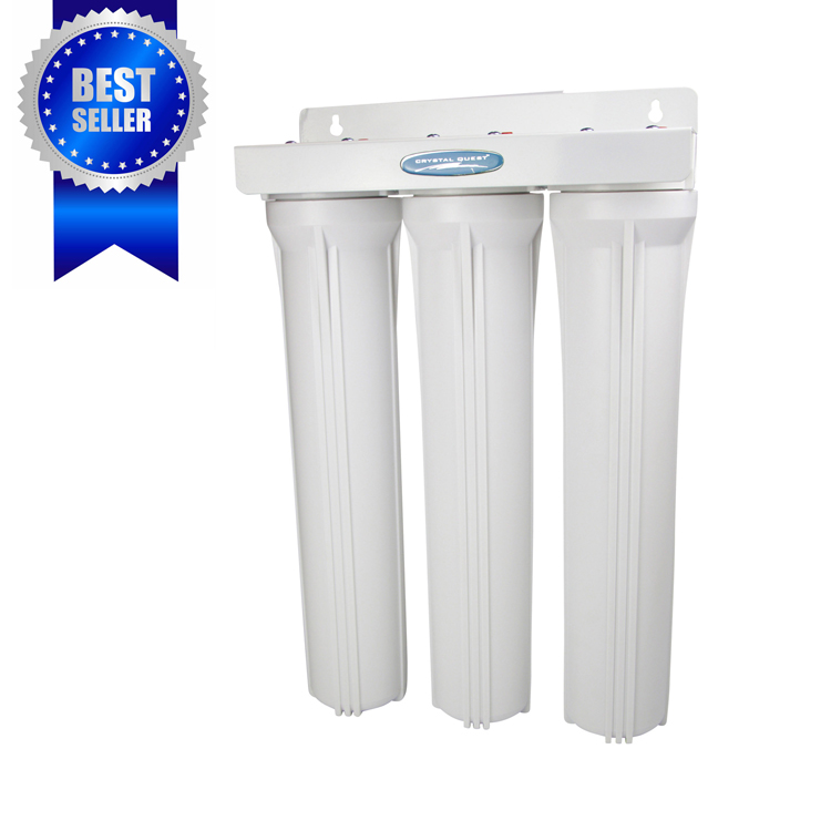 cqewh01103 whole house water filter triple 20 inch cqewh - Whole House Water Filtration