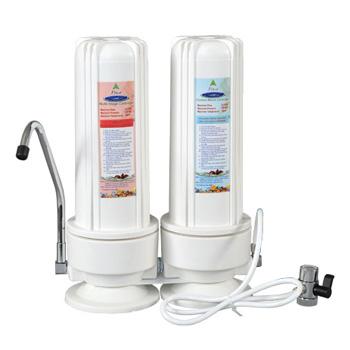 Countertop Water Filter with Two Replaceable Cartridges, 7-stage, W10-PLUS