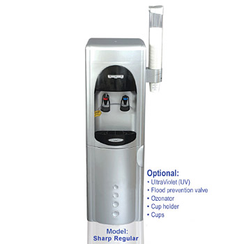 Sharp UltraFiltration Floor Water Cooler CQE-WC-00909, CQ-UFWC-SHARP