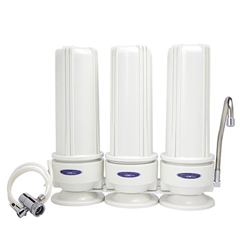 Filter Water: BPA-Free Countertop Triple Water Filter
