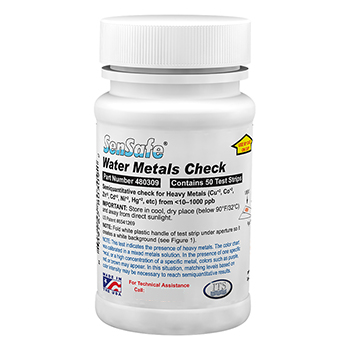 Water Heavy Metals Test Kit, 50 Testing Strips, IT-TK-03