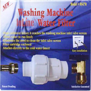 Washing Machine Water Filter Inline