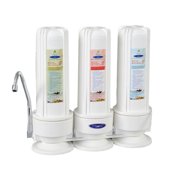 Countertop Fluoride Removal Water Filter with 3 Filters, CQE-CT-00133, CQE-CT-00133