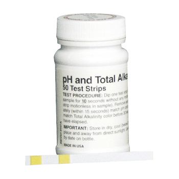 pH and Total Alkalinity Water Test Strips