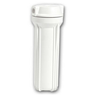 "Water Filter Housing, White 2.5""x10"""