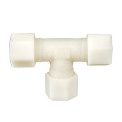Jaco Polypropylene Tube Tee Fittings 1/4 inch, CQE-PT-03031