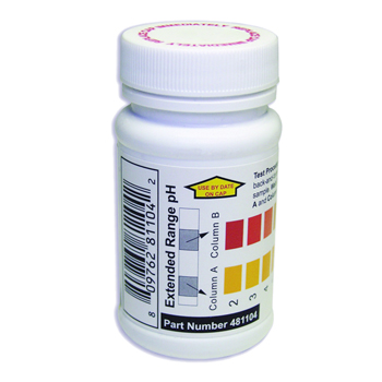 Extended Range pH Test Strips, Water 481104, IT-TK-30