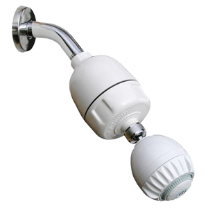 Rainshower Shower Filter CQ-1000 with Shower Head chromed or massaging, CQ-1000-DS