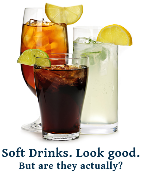 Soft Drinks Contain Sugar and Caffeine