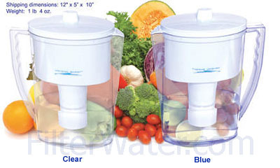 Pitcher Clear & Blue