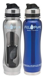 Seychelle Water Bottle with Filter inside