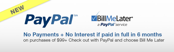 PayPal Bill Me Later financing