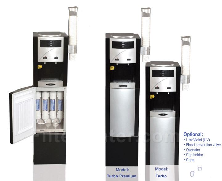 Crystal Quest CQE-WC-00907 Turbo Floor Reverse Osmosis Bottleless Water Cooler Crystal Quest - Regular