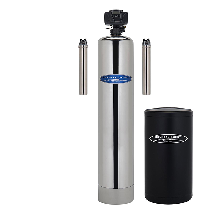 Crystal Quest CQE-WH-01133 Large Nitrate Whole House Water Filter with Automatic Backwash - 1.5 Cu. ft