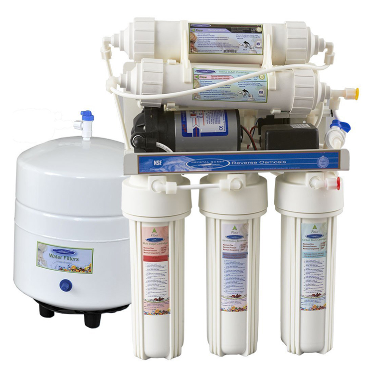 Crystal Quest CQE-RO-00105 Thunder 1000CP Reverse Osmosis Water Filter System with Pump RO - 50 GPD