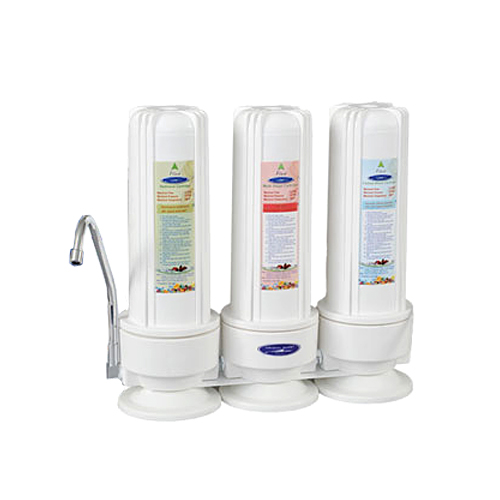 Crystal Quest CQE-CT-00140 Countertop Arsenic Removal Water Filter with Three Filters
