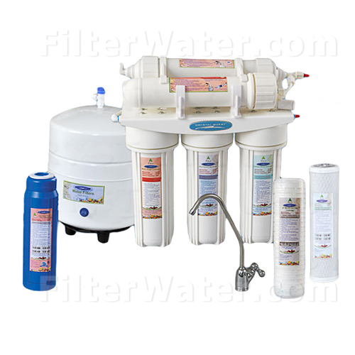 Crystal Quest CQE-RO-00109 Thunder 1000M Reverse Osmosis and UltraFiltration Undersink System - 50 GPD