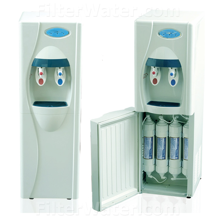 Crystal Quest CQE-WC-00902 Point-of-Use Floor Water Cooler with Reverse Osmosis and Ultrafiltration