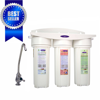 Triple Undersink Water Filter With Fluoride Removal, CQ-W14F-PLUS