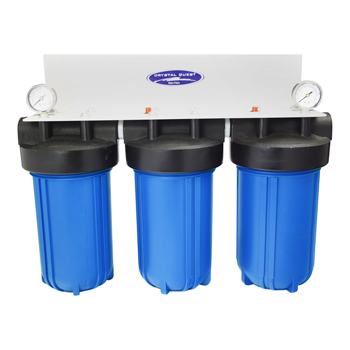 """Crystal Quest CQE-WH-01106 CQE-WH-01106 Whole House Filter Triple 10""""x5"""""""