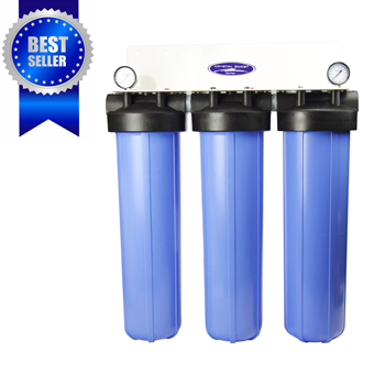 "Crystal Quest CQE-WH-01109 Whole House Filter Triple 20""x5"" For High-Flow Water Filtration"