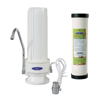 Crystal Quest W9C-PLUS Countertop Ceramic Water Filter White