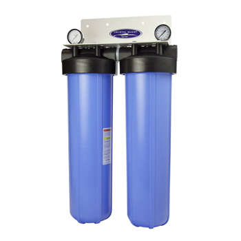 """Crystal Quest CQE-WH-01108 CQE-WH-01108 Whole House Filter Dual Cartridge 20""""x5"""""""
