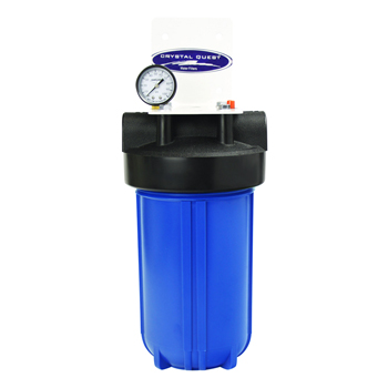 """Crystal Quest CQE-WH-01104 Big Blue Whole House Water Filter 10""""x5"""" Single Cartridge CQE-WH-01104"""