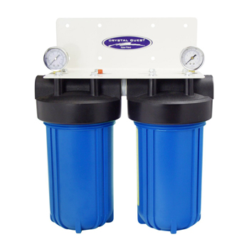 """Crystal Quest CQE-WH-01105 Whole House Filter Dual Cartridge 10""""x5"""" CQE-WH-01105"""