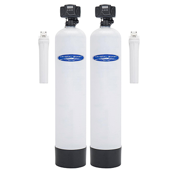 Crystal Quest CQE-WH-11670 Fluoride Whole House Water Filter Dual - 1.5 cu.ft
