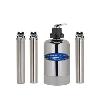 Crystal Quest CQE-WH-02101 Eagle 1000-SS Stainless Steel Whole House Filter System CQE-WH-02101