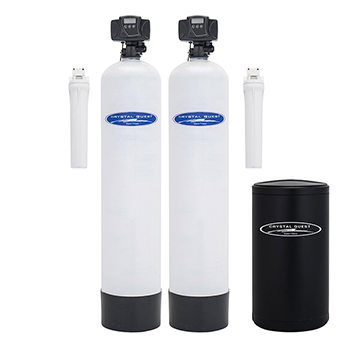 Crystal Quest CQE-WH-01127 Dual Tank Water Softener and Whole House Filter System - 1.5 cu.ft.