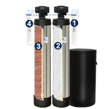 Dual Tank Water Softener And Acid Neutralizing System