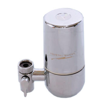 Crystal Quest W2-CHROME Faucet Mounted Water Filter Chrome Crystal Quest