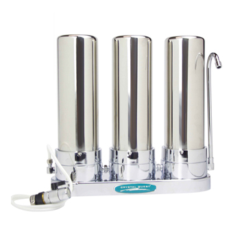 Crystal Quest CQE-CT-00162 Countertop Ceramic Water Filter White