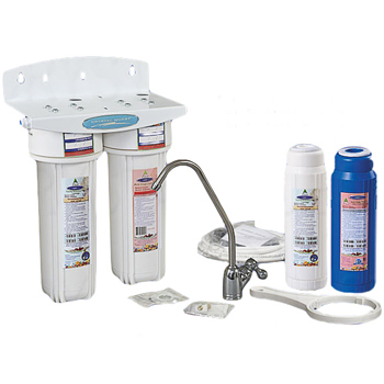 Crystal Quest CQE-US-00323 Undersink Water Filter With Nitrate Double Cartridge - PLUS