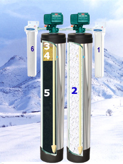 arsenic dual whole house filter arsenic reduction home water filter