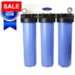 Whole House Filter Triple 20''x5'' For High-Flow Water Filtration