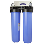 Whole House Filter Dual Cartridge 20''x5'' For High-Flow Water Filtration