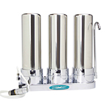 Countertop Ceramic Water Filter Triple Stainless Steel