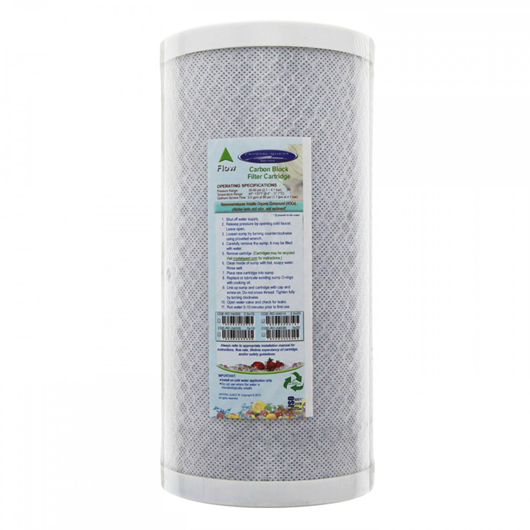Carbon Block Water Filter Cartridge 4x10 Inch Cbc 10bb