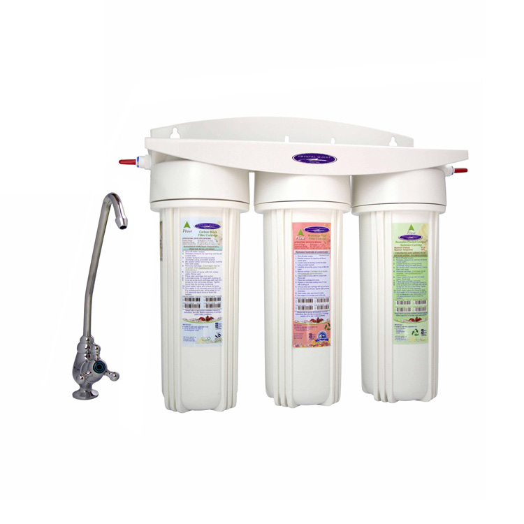 undersink water filter with three cartridges and arsenic removal. Black Bedroom Furniture Sets. Home Design Ideas