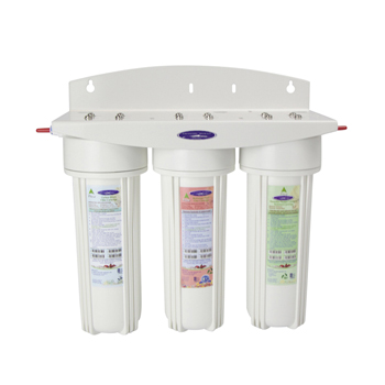 Voyager Triple Inline Water Filter System with Custom Cartridges, CQE-IN-00309CST